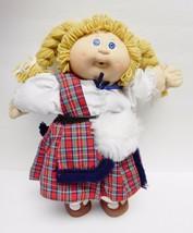 Cabbage Patch Doll W Plaid Kilt Faux Fur Outfit Diaper '82 Xavier Roberts Vtg - $79.95
