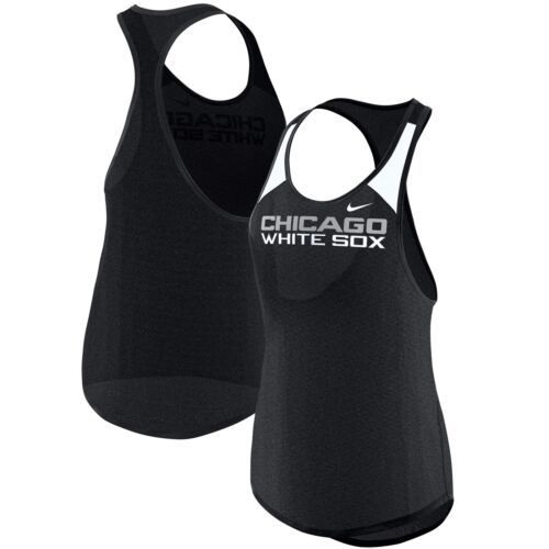 Large 10/12 Women's Chicago White Sox Tank Top MLB Nike Legend Tee Shirt NEW