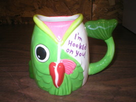 """Galerie Figural Fish Mug """"I'm Hooked On You"""" Fisherman Cup Lure - $8.29"""