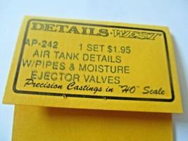 Details West #AP-242 Air Tank Details w/Pipes & Moisture Ejector Valves HO-Scale image 2