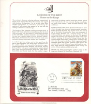 Legends of the West, Postal Commemorative Society, 1st Day of Issue - $2.99