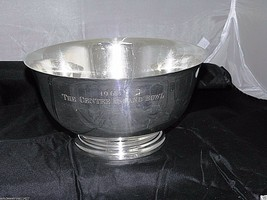 Sterling Silver LUNT# 9-R Paul Revere Reproduction Large Bowl 748 gr Best Deal - $675.58