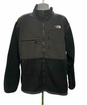 The North Face Jacket Fleece Black Gray RECYCLED POLARTEC 2XL Full Zip M... - $62.55