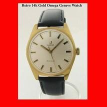 Vintage  & Retro Omega 14k Gold Mint Geneve Wrist Watch 1975 - $895.41