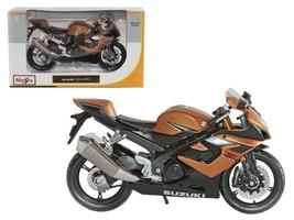 Suzuki GSX R1000 Bronze Motorcycle 1:12 Diecast Model by Maisto - $24.27