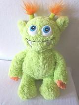 GUND Monsteroos Beeper Plush 4040191 Green Orange Monster Stuffed Animal - $15.82
