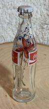 Thailand Coke Coca-Cola Mini Miniature dried Blue Flowers crystal glass bottle image 2