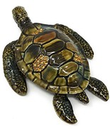 Kubla Craft Enameled Sea Turtle Trinket Box, Accented with Austrian Crys... - $39.95
