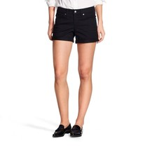 NWT Mossimo Women's Size 2 Regular Super Stretch Mid Rise Black Jean Shorts - $15.83