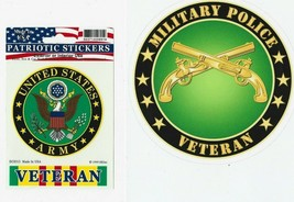 US Army Military Police Veteran  US Army Seal and Vietnam Veteran Tab S... - $19.79
