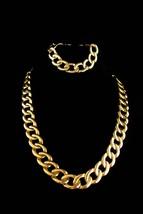 Vintage Napier demi  Parure/ huge chain necklace / Large gold bracelet /... - $125.00