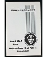 Independence High School INAUGURAL Commencement Bulletin 1980 Glendale A... - $24.25