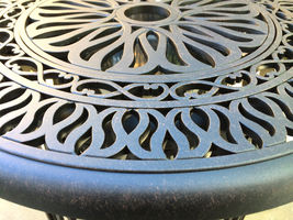 3 Piece Bistro Patio Set Conversation Cast Aluminum Outdoor Furniture Elisabeth image 6