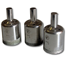 """3 pieces 1"""" inch Kent Diamond Coated Core Drill Bits Hole Saws - $15.94"""