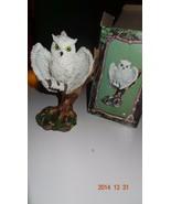 Screech Owl figurine. With box.  Resin By Trippie's Inc. - $27.35