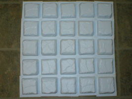 "12 COBBLESTONE PAVER TILE WALL COUNTER PATIO FLOOR MOLDS 4""x4"" MAKE FOR PENNIES image 3"