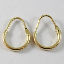 18K YELLOW GOLD ROUND CIRCLE EARRINGS DIAMETER 8 MM WIDTH 1.7 MM, MADE IN ITALY image 1