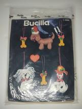 Bucilla Jeweled Holiday Ornaments felt kit Puppy Treat set of 6 3588 - $29.02