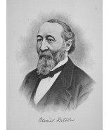 OLIVER DITSON Massachusetts Publisher of Music - 1895 Portrait Print - $12.60