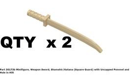 Lego CMF Replacement Part 30173b Minifigure, Weapon Sword, Shamshir/Katana - $4.49
