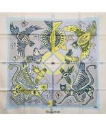 """Hermes Scarf LEGENDE KUNA PEUPLE DE PANAMA 90 cm Silk Carre 35"""" O - $443.52"""