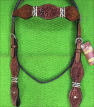 Western Horse Headstall Tack Bridle American Leather Rawhide Braided U-M-HS - $64.95