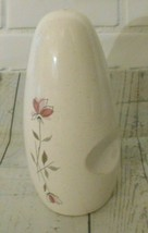 """Retro Vintage Franciscan Earthenware Duet Rose Salt Shaker 5"""" 1956-61 - $6.50"""
