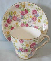 Royal Stafford June Roses Chintz Cup & Saucer - $27.61