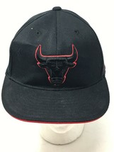 Chicago Bulls Adidas Blackout 210 Fitted NBA Basketball Cap Hat 6 7/8 to 7 1/4 - $19.75