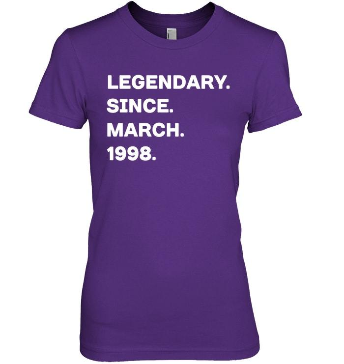 Legendary Since March 1998 20th Years Old Birthday Shirt image 3