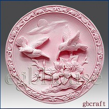 2D Silicone Soap Mold – Birds in Scarlet Pimpernel garden - $33.66