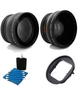 Wide Angle Lens + 2x Telephoto Lens + Adapter Ring Bundle For GoPro Hero... - $42.29