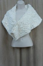 SLNY SL Fashions New York Sz OS White Gold Sequin Evening Cocktail Wrap ... - $20.91