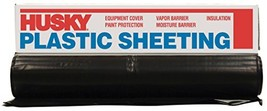 Husky CF0408B 4 ML Tyco Polyethylene Plastic Sheeting, 8' x 100', Black