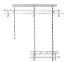 ClosetMaid 2087 ShelfTrack 2ft. to 4ft. Adjustable Closet Organizer Kit,... - $111.18