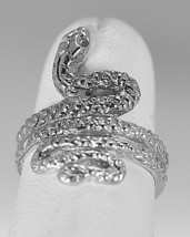Authentic Sterling silver Jewelry Rattle Snake King Cobra Ring Pick your... - $29.99