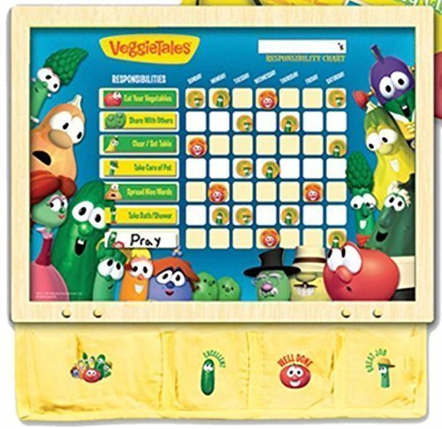 Veggie Tales Wood Chore Responsibility Chart (00537) for sale  USA