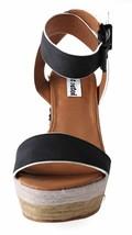 Not Rated Women's Black White Sand Summer Platform Wedge Sandals NIB image 2