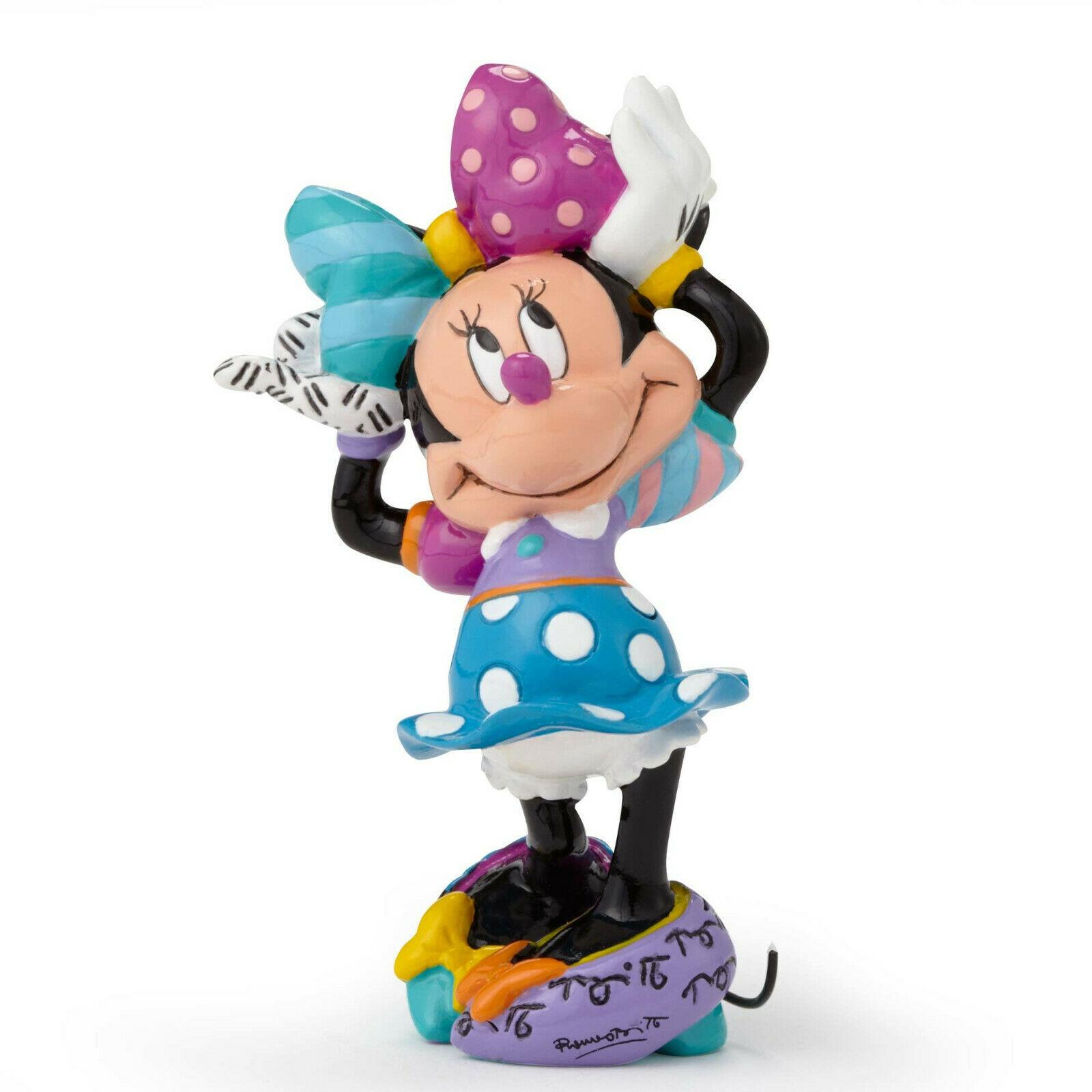 """3.25"""" Disney Britto Minnie Mouse Mini 3 Dimensional Figurine Stone Resin"""