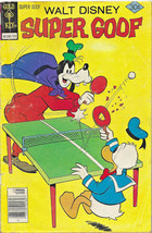 WALT DISNEY SUPER GOOF #43  DONALD DUCK COVER - GOLD KEY  1977 - used (262) - $4.45