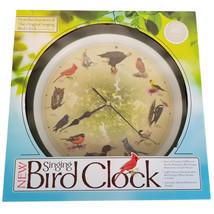"NEW Original Singing Bird Hanging Wall Clock 12 Birdsongs Limited Ed 13""... - $18.52"