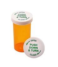 Cafe Cubano® Amber Vials ~ 6 Dram Pharmacy Plastic Prescription Vials wi... - $9.90