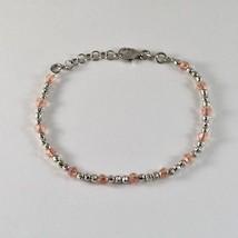 Bracelet En Argent 925 RhodiÉ Avec Des Boules Facettes Et Zirconia Cubes - $44.36