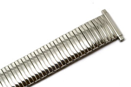 SPEIDEL 16-21MM SILVER TWIST O FLEX STAINLESS STEEL EXPANSION WATCH BAND... - $14.84