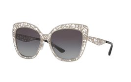 Dolce & Gabbana 2164 Metal Lace Gunmetal Grey Cat Eye Filigree Sunglass DG2164 - $199.96