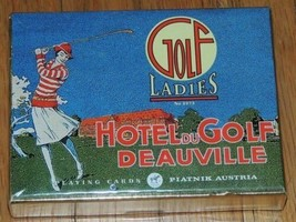 NEW Piatnik Ladies Golf Hotel du Golf Deauville 2 decks Playing Cards Austria - $17.99