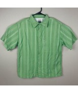 Magellan Outdoors Loose Fit Mens Shirt Fishing Vented Short Sleeve Size L - $13.79