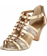 Circa Joan & David Women's Nadalia Wedge Sandal 9 M US Metallic Multi - $39.60