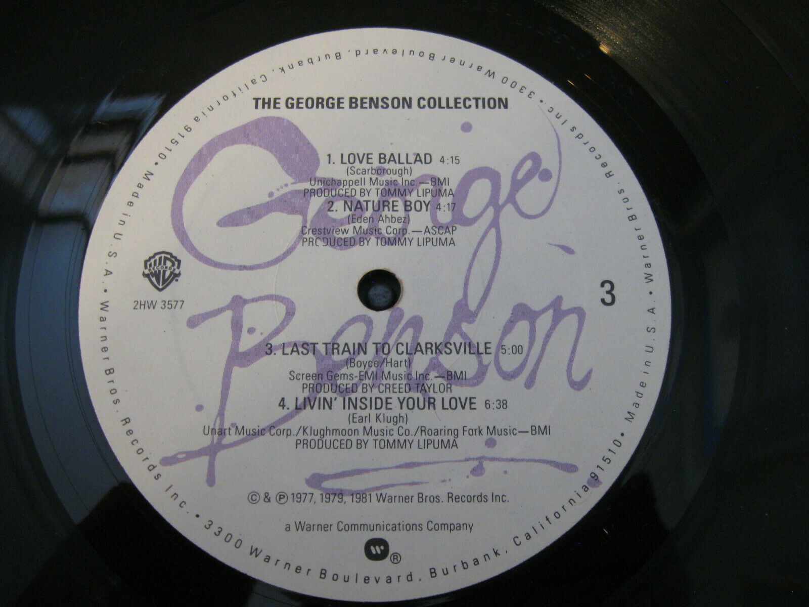 The George Benson Collection Warner Bros 2HW 3577 Stereo Vinyl Record LP Album image 9