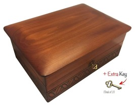 Large Wood Box Polish Handmade Wooden Decorative Box Keepsake Memories A... - €69,64 EUR